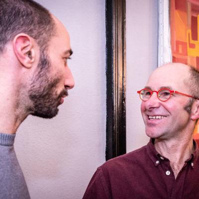 Jean-Sébastien Chaise, fidèle soutien depuis le début du projet, et Vincent Schotter, maraîcher et éleveur de volailles (Le Jardin d