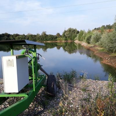Un point de pompage d'irrigation, enjeu important dans les cultures à venir